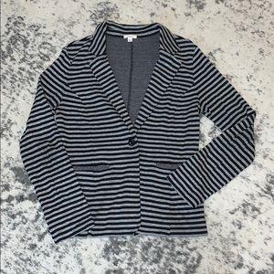 Caslon blazer size medium gray & black striped